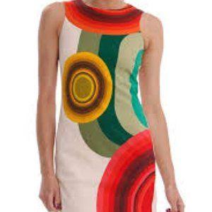 Desigual Abstract Multi Color Dress Celline